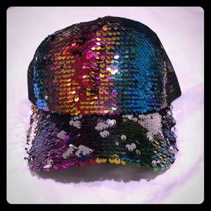 NWT Sequins Flip It Adjustable Baseball Hat